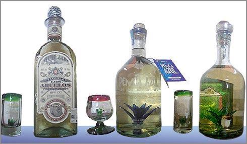 Vidrio soplado hg con tequila - Fabrica de floreros de vidrio ...